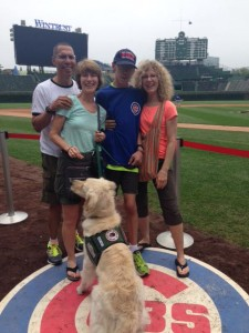 The ADA ensures Adam & Turbo are welcome everywhere. Turbo even joined us at Wrigley Field for a Cubs game!