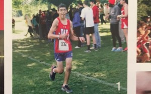 Adam enjoys running cross country.