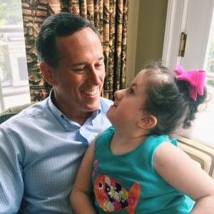 Sen. Rick Santorum with his daughter Bella, July 2015