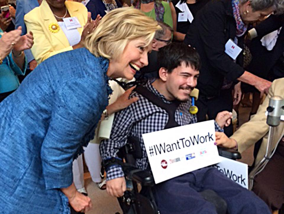 Hillary-Clinton-with-a-wheelchair-bounc-