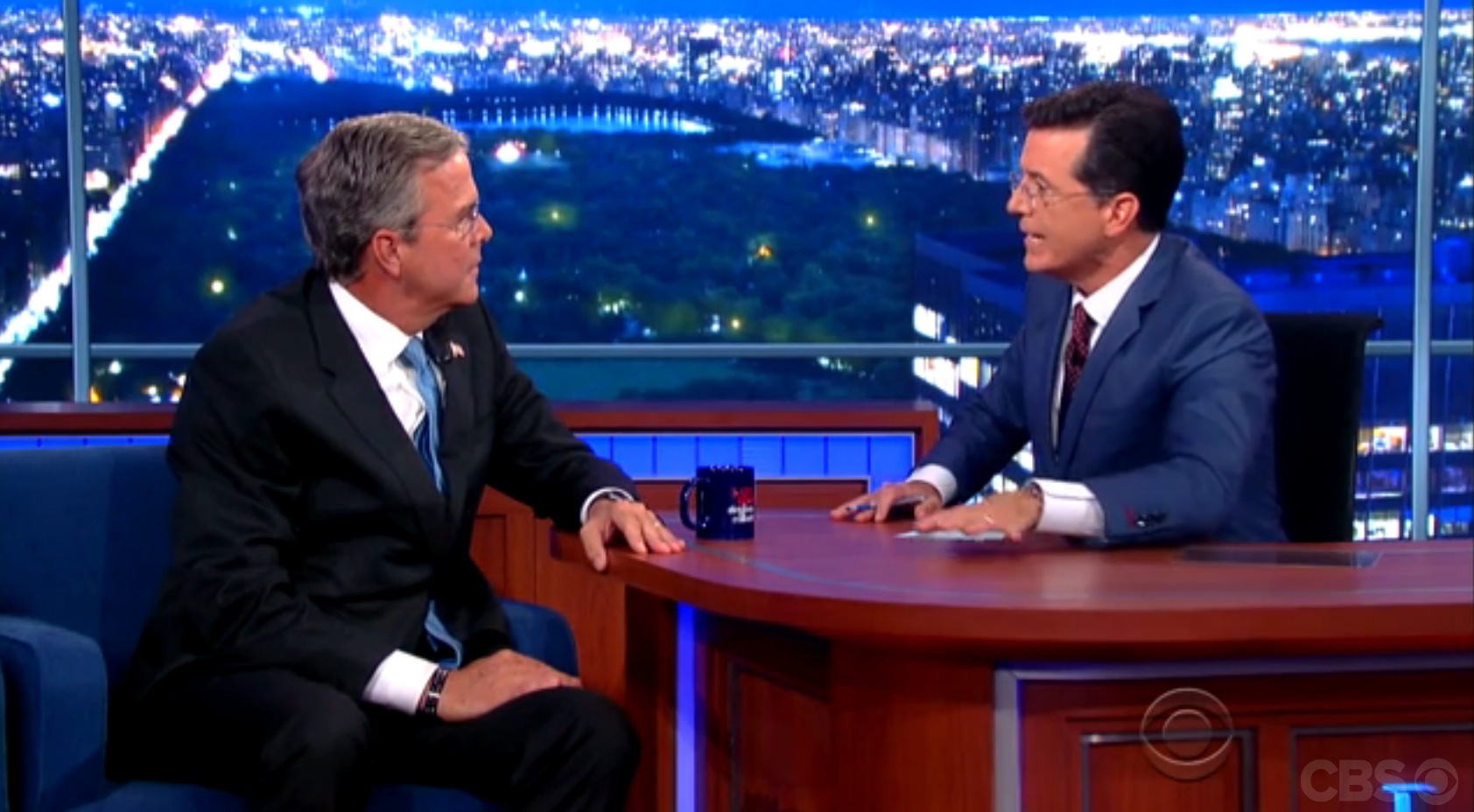 Jeb Bush on The Late Show