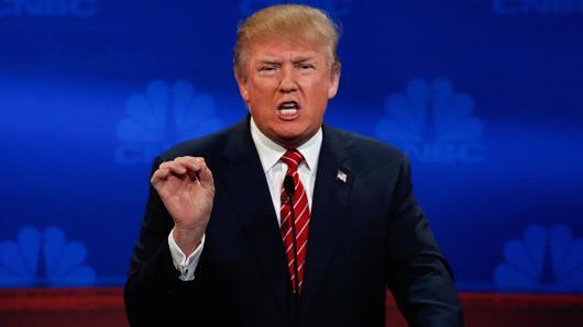 Donald Trump at the CNBC Debate