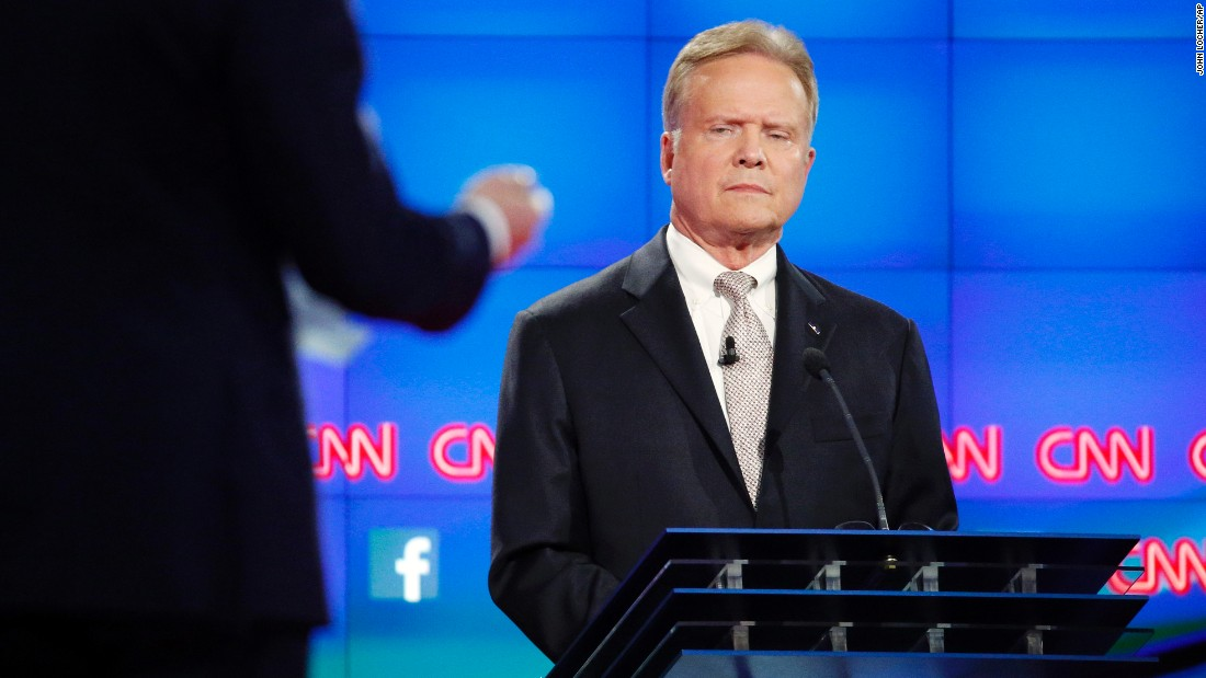 Jim Webb at the CNN Democratic Debate in Las Vegas