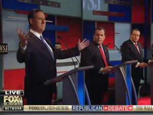 Republican U.S. presidential candidate and former Sen. Rick Santorum speaks during the undercard debate held by Fox Business Network in Milwaukee, Wisconsin, November 10, 2015