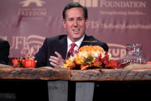 Republican presidential candidate, former Sen. Rick Santorum, R-PA, speaks during the Presidential Family Forum, Friday, Nov. 20 in Des Moines, Iowa.