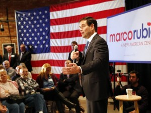 Republican presidential candidate, Sen. Marco Rubio, R-Fla., speaks at the Fisher Community Center in Marshalltown Wednesday, Jan. 6, 2016. Zach Boyden-Holmes/The Register