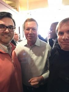 Gov. Kasich with RespectAbility Fellows Ryan Nobile and James Trout.
