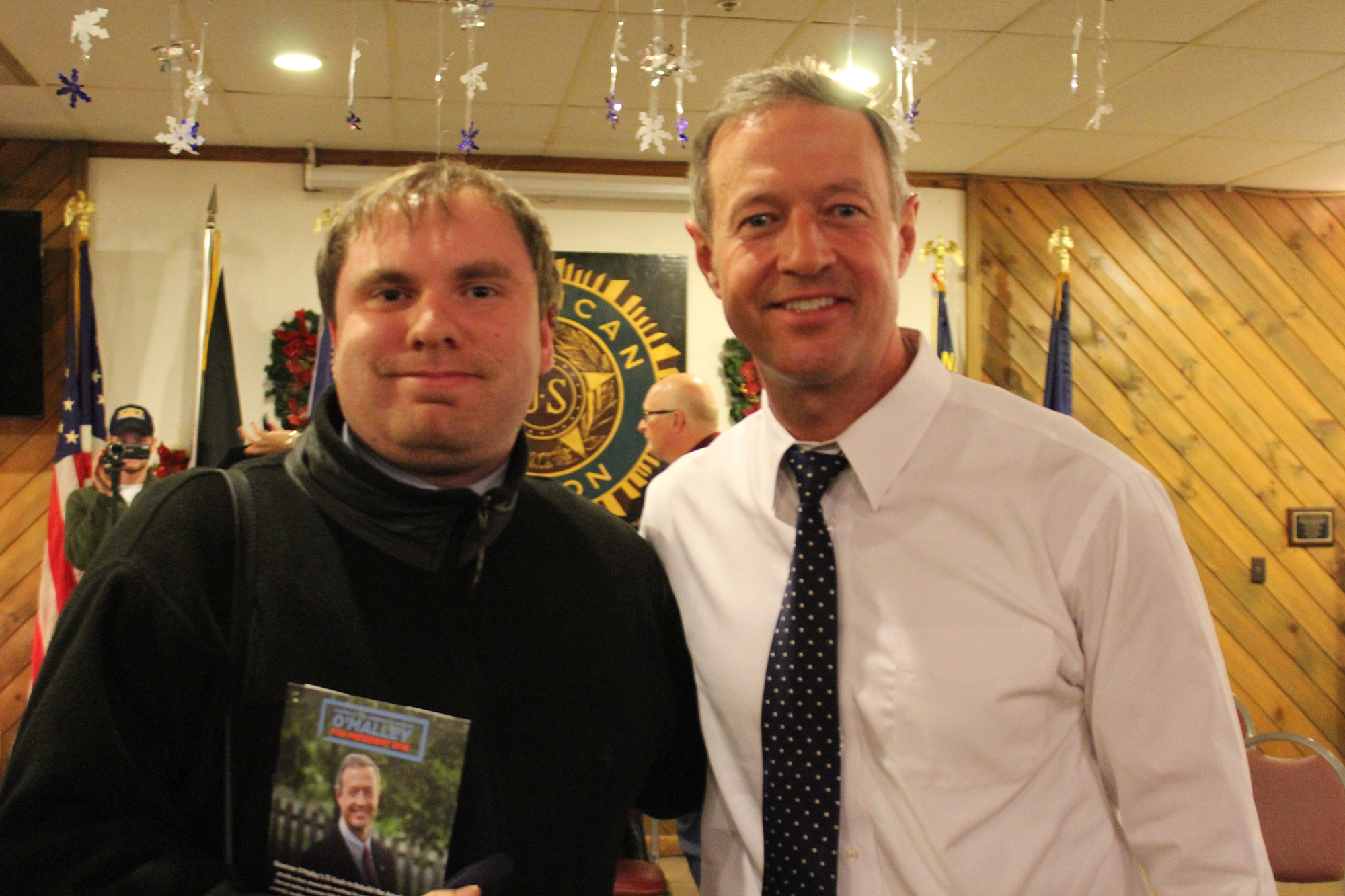 In January, James interviewed Gov. Martin O'Malley in New Hampshire.