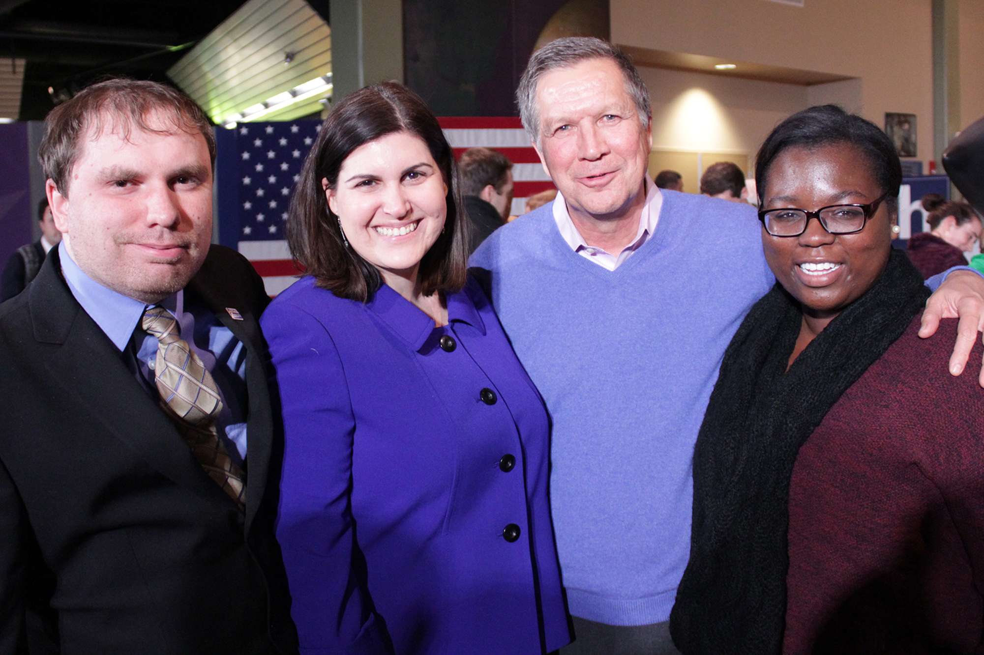 In December, James interviewed Gov. John Kasich in New Hampshire.