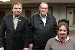 In January, James and Ben met Gov. Mike Huckabee in Iowa.