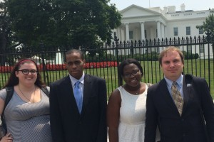 During the summer, James visited the White House with other RespectAbility Fellows.