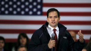U.S. Senator and Republican presidential candidate Marco Rubio speaks during a campaign rally in Bow, New Hampshire, February 3, 2016.