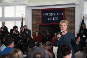 Secretary Hillary Clinton in Henniker, New Hampshire