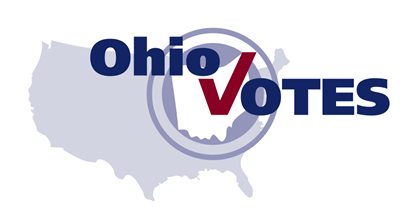 Text: Ohio Votes on top of map of United States