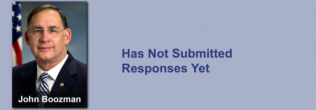 John Boozman has not submitted his responses yet.