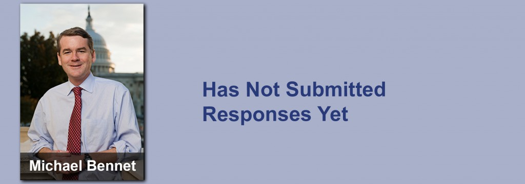 Michael Bennet has not submitted his responses yet.