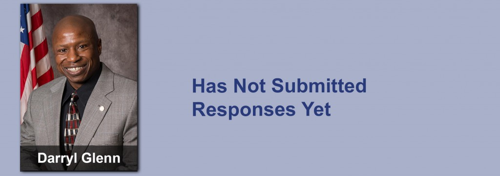 Darryl Glenn has not submitted his responses yet.