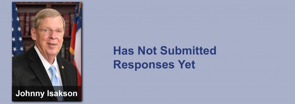 Johnny Isakson has not submitted his responses yet.