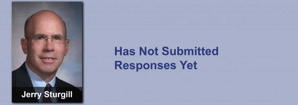 Jerry Sturgill has not submitted his responses yet.