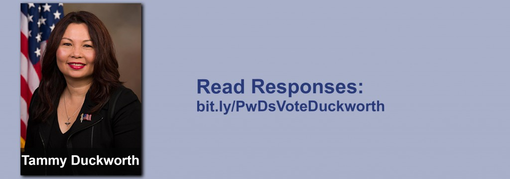 Click on the image to view all of Tammy Duckworth's answers to the questionnaire.