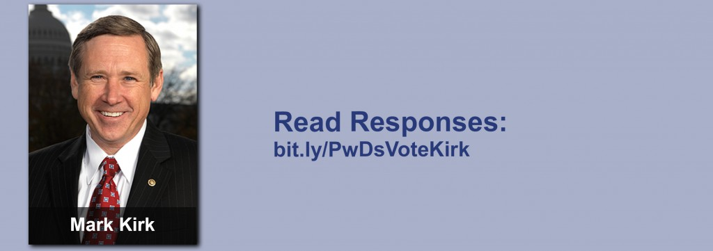 Click on the image to view all of Mark Kirk's answers to the questionnaire.