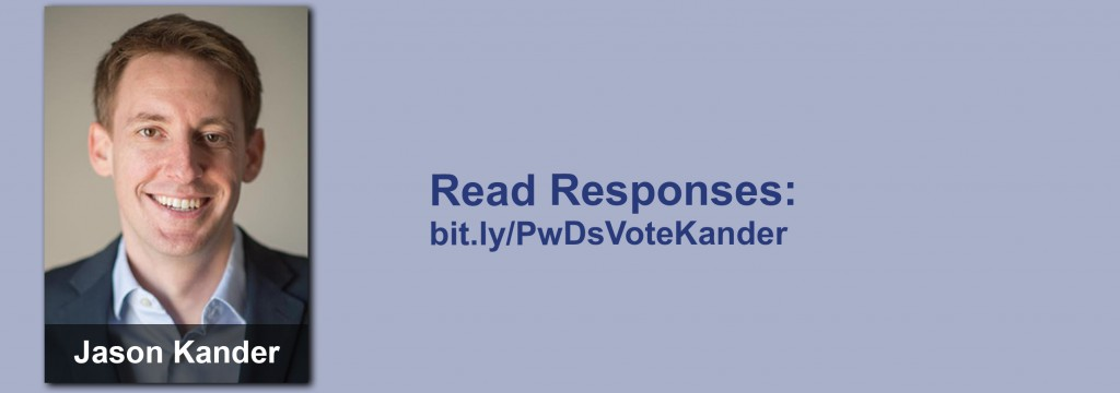Click on the image to view all of Jason Kander's answers to the questionnaire.