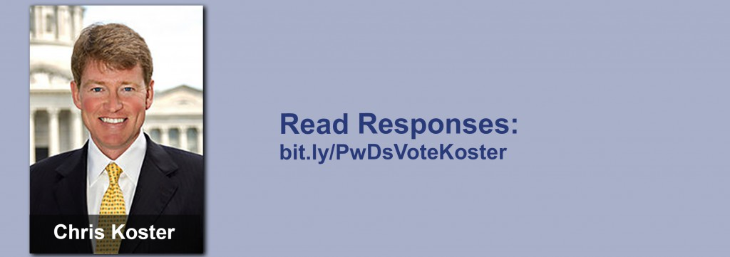 Click on the image to view all of Chris Koster's answers to the questionnaire.