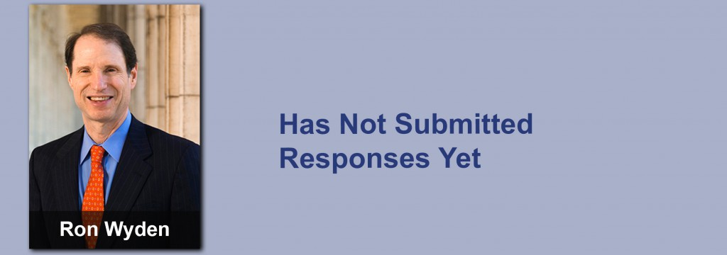 Ron Wyden has not submitted his responses yet.