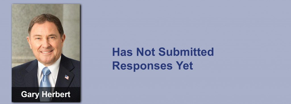 Gary Herbert has not submitted his responses yet.