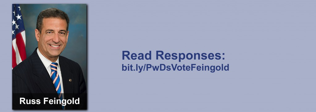 Click on the image to view all of Russ Feingold's answers to the questionnaire.