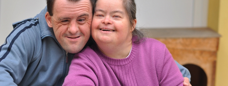 Couple with intellectual and developmental disabilities