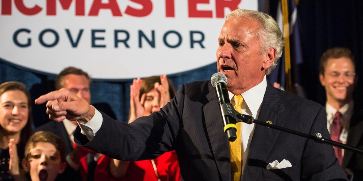 Henry McMaster speaks to supporters after winning re-election