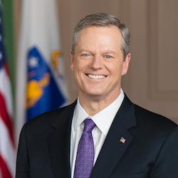 Massachusetts Governor Charlie Baker smiling