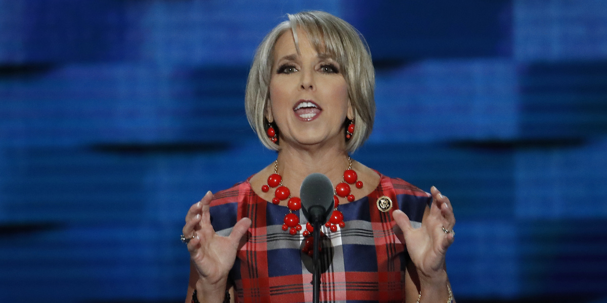 Michelle Lujan Grisham speaks at the DNC in 2016 (AP Photo)