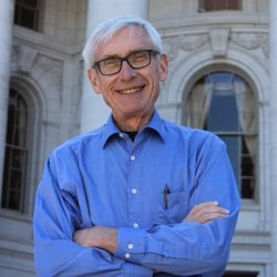Wisconsin Governor Tony Evers smiling