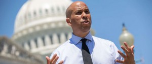 Booker in front of the capitol building