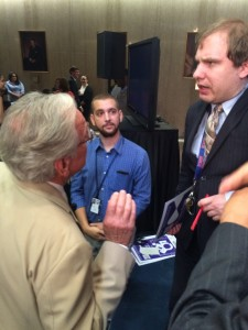 Senator Tom Harkin (D-IA)  and RespectAbility Fellow James Trout