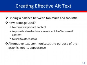 Creating Effective Alt Text