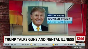 During a phone interview with CNN, Donald Trump said mental illness, not gun laws, are to blame for gun violence.