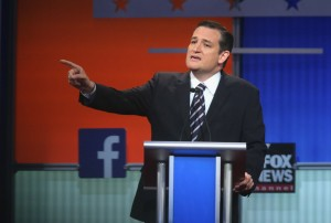 CLEVELAND, OH - AUGUST 06: Republican presidential candidate Sen. Ted Cruz (R-TX) fields a question during the first Republican presidential debate hosted by Fox News and Facebook at the Quicken Loans Arena on August 6, 2015 in Cleveland, Ohio. (Photo by Scott Olson/Getty Images)