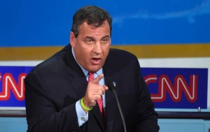 Republican presidential candidate Gov. Chris Christie speaks during the CNN Republican presidential debate at the Ronald Reagan Presidential Library and Museum on Sept. 16, 2015