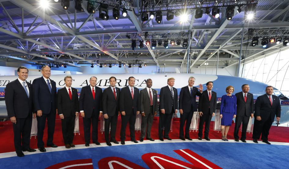 Republican contenders for president at the CNN Debate, September 16, 2015