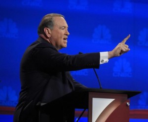 Former Gov. Mike Huckabee at the CNBC Debate