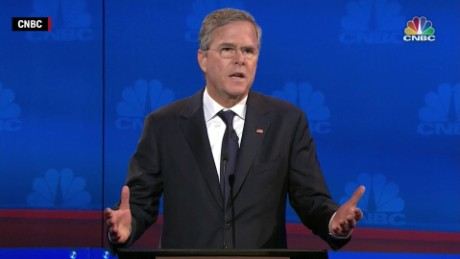 Former Gov. Jeb Bush at the CNBC Debate