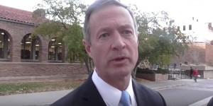 Gov. Martin O'Malley speaking in Boulder, Colorado