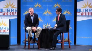 Gov. Jeb Bush addressing the LIBRE Forum in North Las Vegas, Oct. 21, 2015