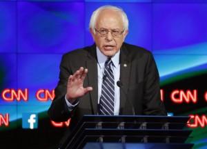 Bernie Sanders  at the CNN Democratic Debate in Las Vegas