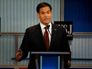 Republican U.S. presidential candidate and former Senator Marco Rubio speaks during the debate held by Fox Business Network for the top 2016 U.S. Republican presidential candidates in Milwaukee, Wisconsin, November 10, 2015.