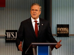 Republican U.S. presidential candidate and former Governor Jeb Bush speaks during the debate held by Fox Business Network for the top 2016 U.S. Republican presidential candidates in Milwaukee, Wisconsin, November 10, 2015.