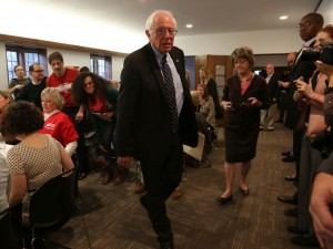 Presidential hopeful Bernie Sanders holds a caregiver roundtable discussion about the issues Iowans who are primary care givers for their loved ones who are sick or disabled, on Sunday, Nov. 15, 2015, at the Central Presbyterian Church in Des Moines.